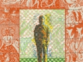Ward_The Artist Gets the Lead Pencil Blues_2013_58x44cm_woven & quilted linocut_blog