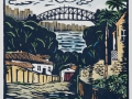 Ward_Bridge From Balmain_2007_30x30cm_handcoloured linocut_blog
