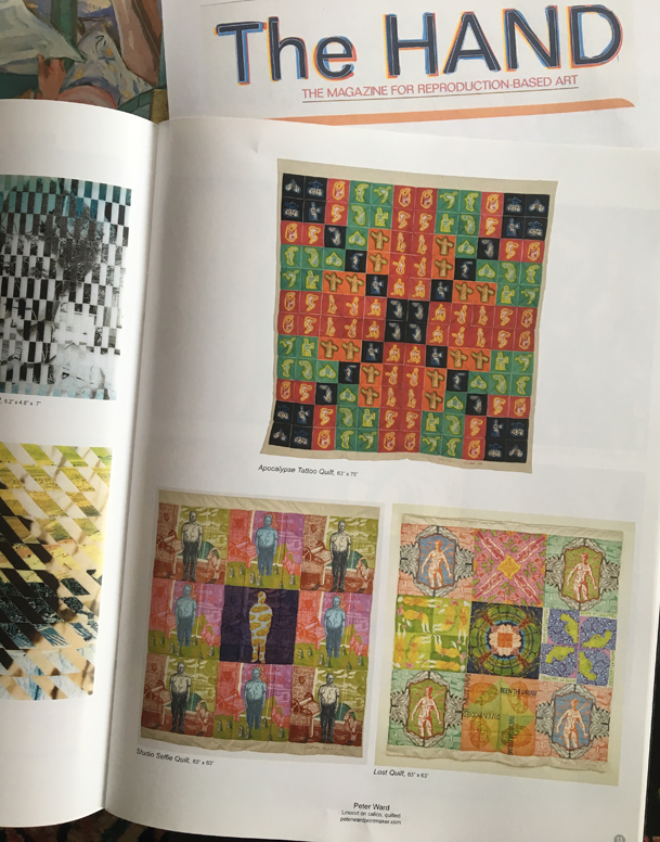 My quilts feature in THE HAND magazine.